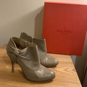 Valentino Bow Ankle Boots